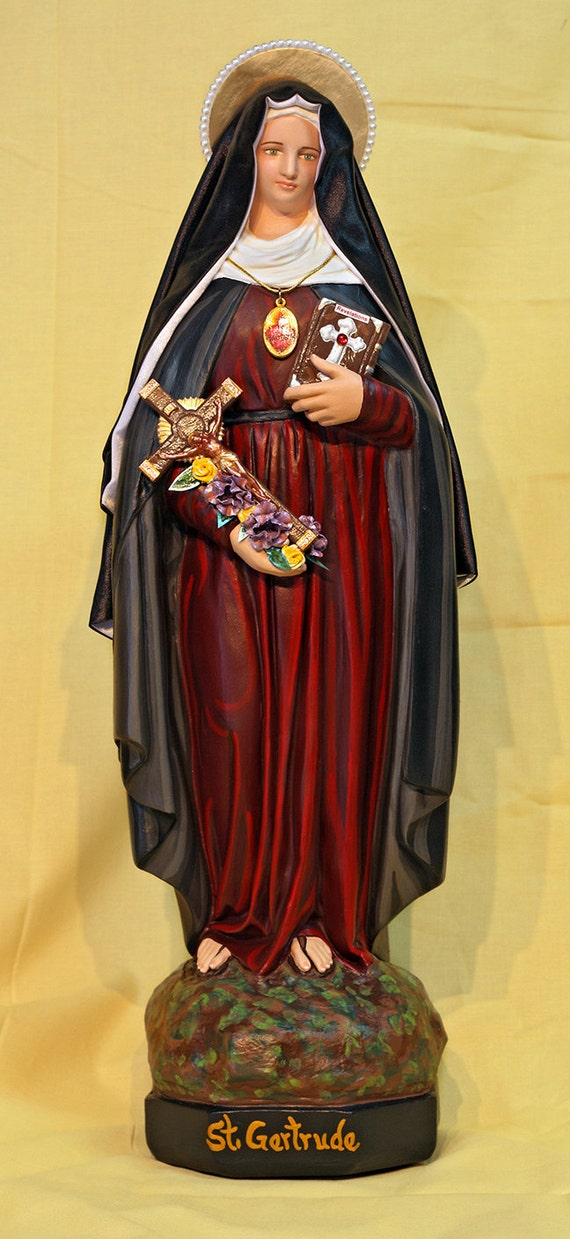 "St. Gertrude the Great 18"" Catholic Christian Statue"