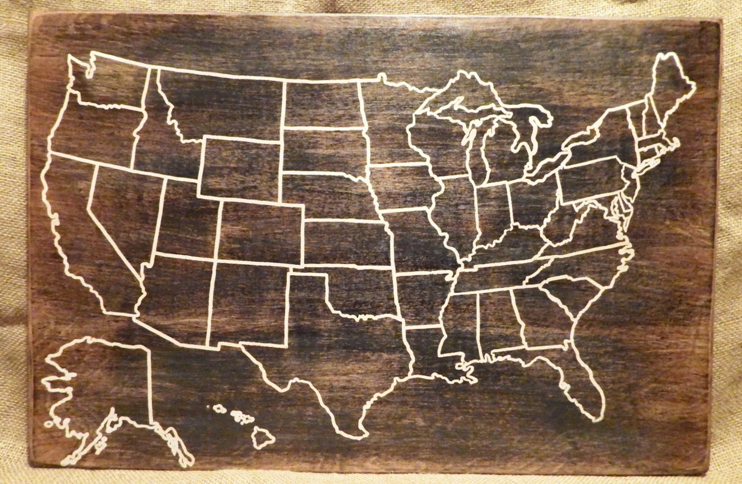 Us Map Etsy - Images for map of usa
