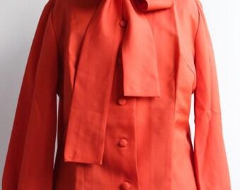 Hand sewn blouse branded Denise Lhermitte Paris vintage  70