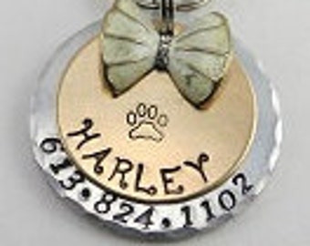 Dog tag, Dog ID tag, Pet tag, Pet ID tag, Dog name tag, Dog tags for dogs, Aluminum name tag, Personalized pet tag, Custom pet tag