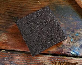 Shark Skin Hipster Wallet in Black - Genuine Shark Leather - Jumbo Oversized (12 Creditcard Slots )