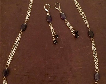 Starry night necklace and evening set