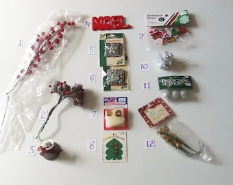 Christmas Charms, Floral and Accessories