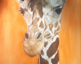 Custom Giraffe Watercolor Painting