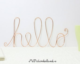 wire sign hello wire art wire wall decor decorative hello sign modern home decor romantic style