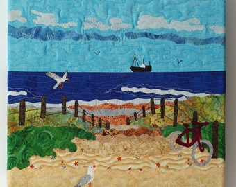 Art quilt with dunes (The Netherlands)