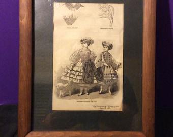Peterson's Magazine Framed Illustration from April 1861