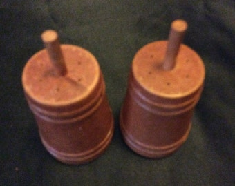 Wooden Churn Salt and Pepper Shaker Set