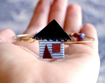 Housewarming Gift, Housewarming, New House, Home sweet Home, Fabric Bracelet, Home, New Home, Dream House, Home Dreams