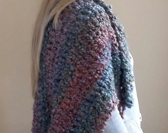Women's Shrug - Women's Sweater - Crochet Sweater - Women's Crochet Shrug - Crochet Shrug - Chunky Shrug - Tucson Shrug -