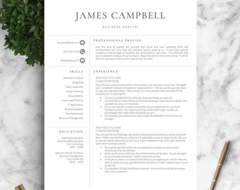 Resume Template | Professional Resume Template For Word U0026 Pages + Cover  Letter | One,