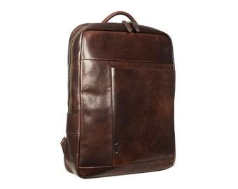 Laptop Backpack, Leather Backpack, Backpacks, Leather Bag, Leather Rucksack, Brown backpack, Backpack fo Men, Women backpack - Solaris
