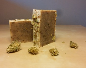 IPA Soap - Handmade with beer (homebrew) - Cold Process Soap - Bar Soap