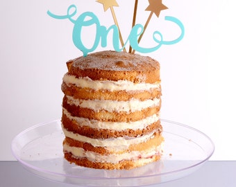 Any Age with Stars Cake Topper