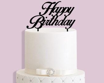 Handmade Happy Birthday Cake Topper