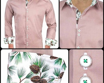 Light Brown Holiday Dress Shirts - Made in the USA