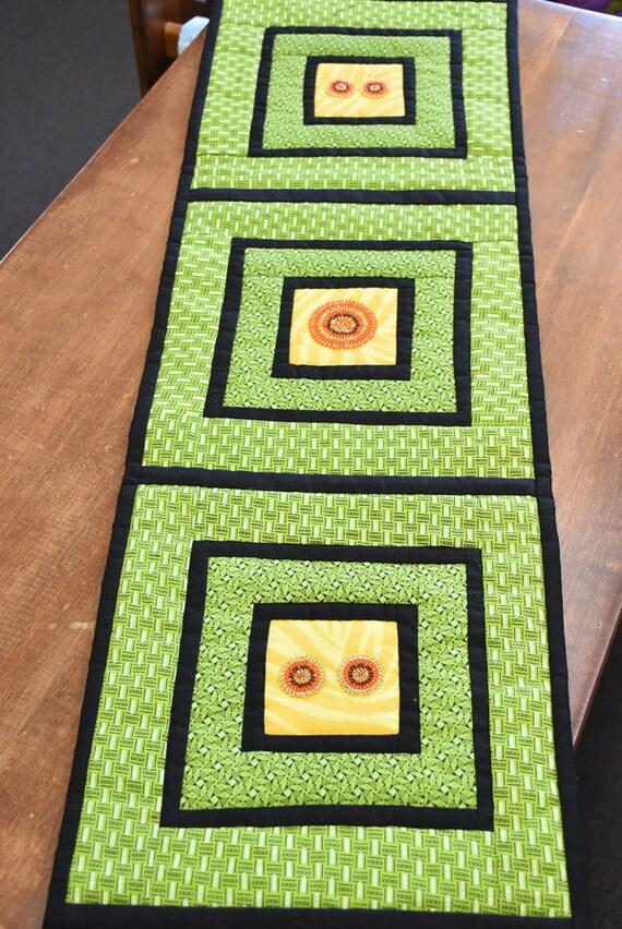 Green Beaded Table Runner