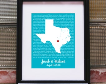 1st Anniversary Gift for Husband 1st Anniversary Gift for Her 1st Anniversary Gift for Couple Anniversary Gifts for Men -Any State Country
