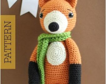 Cute Fox Amigurumi Crochet PATTERN ONLY, Finn McFox, pdf Amigurumi Stuffed Animal Toy Pattern