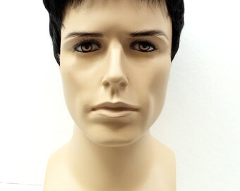 Off Black Short Style Men's Wig. Synthetic Fashion Wig. [55-294-Simon-1B]