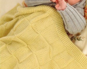 Baby Blanket Knitting Pattern - Pram Blanket and Cot Blanket