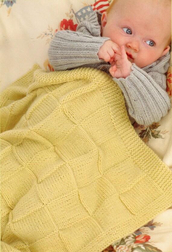 Sweater Patterns Knitting Free : Baby Blanket Knitting Pattern Pram Blanket and Cot Blanket