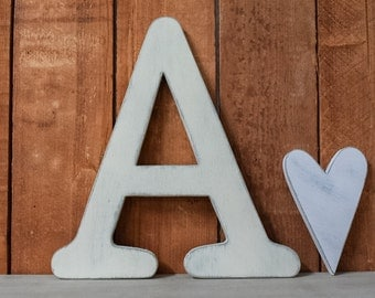 """Wooden letters - Shabby Chic, Cottage, Distressed - Rustic wooden letters - 12"""" tall"""