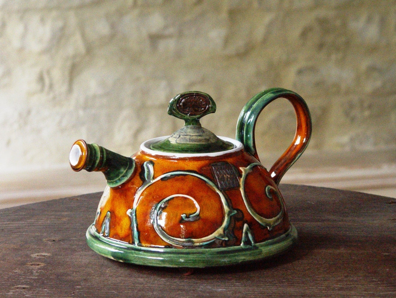 Handmade Ceramic Teapot Pottery Coffee Pot Wedding Gift Tea