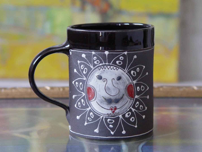 Taza grande recipiente de cermica cermica taza de caf
