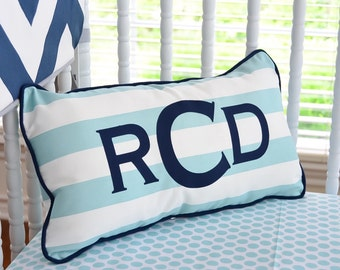 Custom Personalized Fabric Letter Name Pillow - Any color