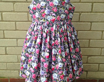 Floral Dress - Girls Party Dress - Age 7 years - Princess Dress