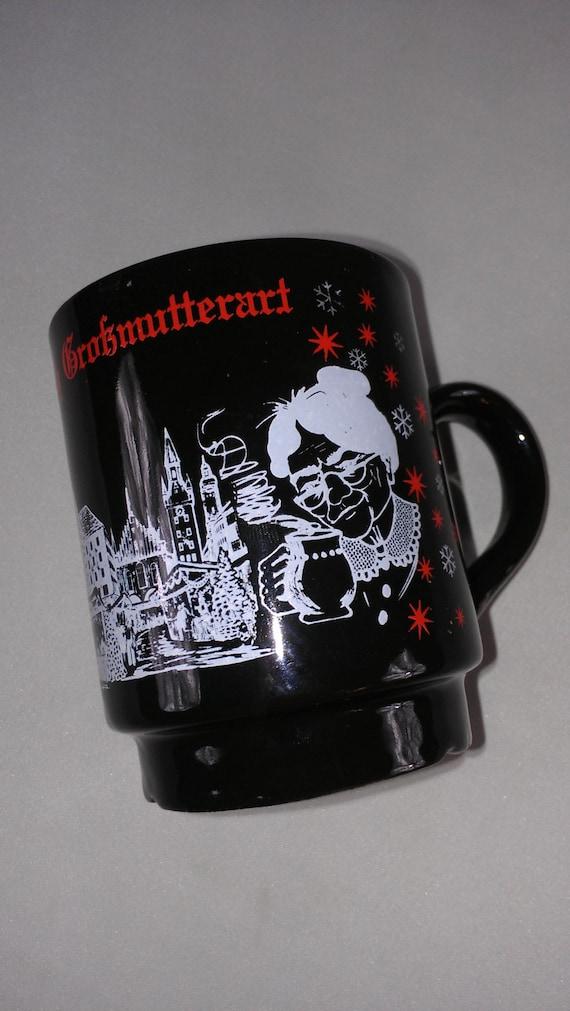 Glühwein Nach Grossmutterart Granny Mug Coffee Cup .2L Tea Germany Munchen Christmas Holidays