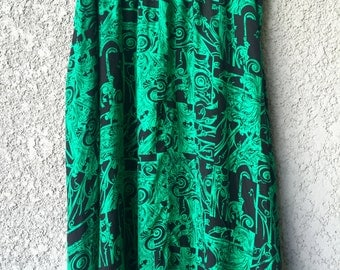 CLEARANCE Green Tanjay midi skirt