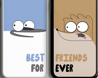 Regular Show Phone Cases, Best Friend Mordecai Rigby iPhone 4 4s 5 5s 5c 6s 6 7plus SE Samsung Galaxy S4 S5 S6 S7 Edge Note 3 4 5