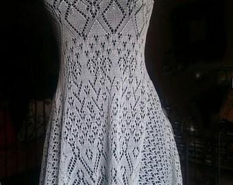 white lace cotton  dress