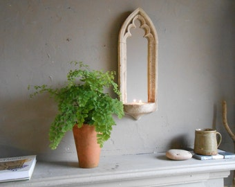 Gothic candle sconce mirror,bathroom mirror,old window mirror.