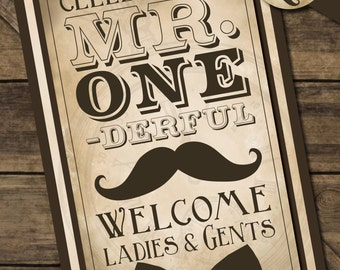 Mr. Onederful Yard Sign, Mr. Onederful Sign