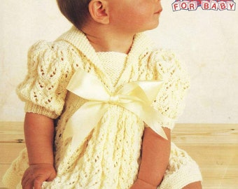 Poppleton 2430 Vintage Knit Baby Dress only knitting pattern instant download only
