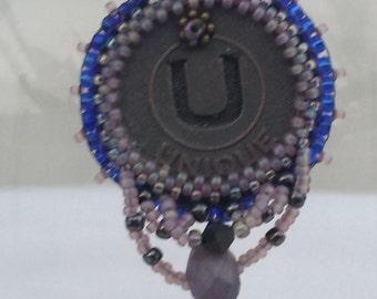 Unique Bead Embroidery Necklace - 02U45