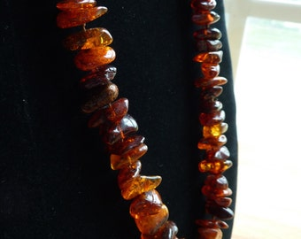 Unusual Amber Necklace Dominican Amber Necklace