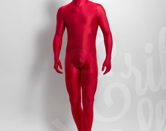 Catsuit overall Zentaï in shiny lycra® spandex made-to-mesure for men