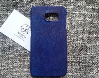 Samsung galaxy s6 NavyBlue leather case