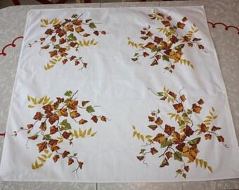 Retro Printed Ivy Small Square Cotton Tablecloth