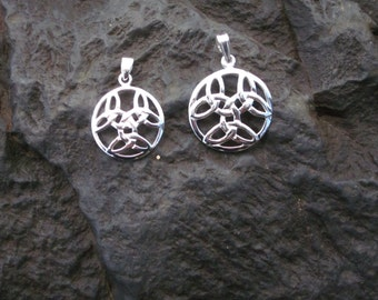 Sterling Silver Celtic Knot Pendant Large & Small - #189/190