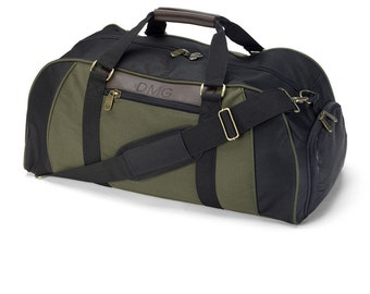 Personalized Mens Travel Bag - Duffle Bag, Luggage, Suitcase