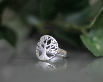 Sterling Silver Tree of Life Ring - Inspirational Ring - Anniversary Gift
