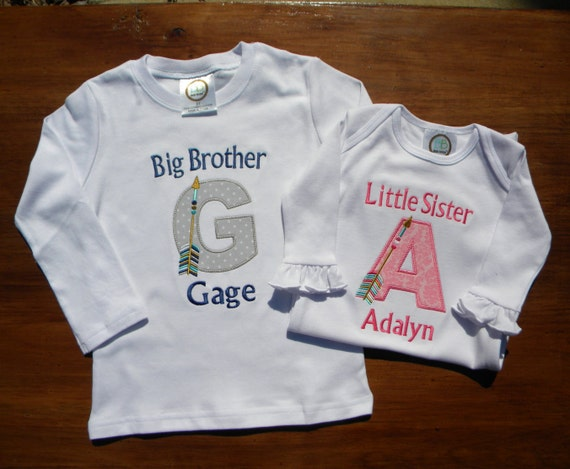 Items Similar To Big Brother Little Sister Shirts On Etsy