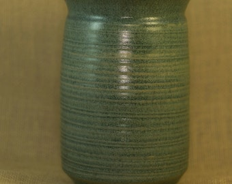 denim blue textured handmade ceramic vase