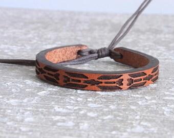Leather Bracelet- Women's Leather Bracelet - Men's Leather Bracelet - Stacked Leather Bracelet - Womem's Gift - Men's Gift - southwest