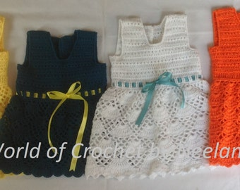 Crochet Baby Frock, baby girl frock pattern, Dress baby girl pattern
